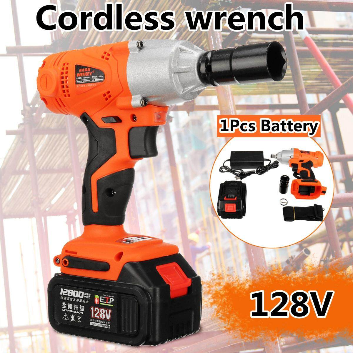 128VF 520Nm 2800rpm Led Lighting Brushless Cordless Impact Wrench