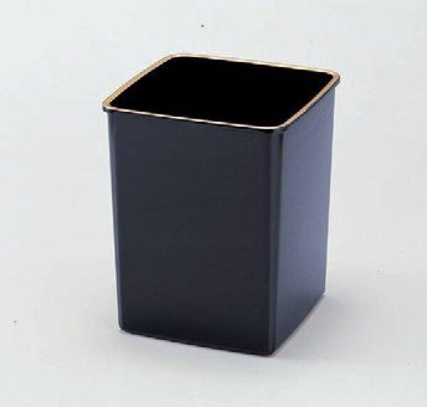 Hotel Goods angle dust box black gilt top (small) [18.4 x 18.4 x 21.8cm] ABS resin (7-901-9) restaurant Ryokan Japanese unit for restaurant business