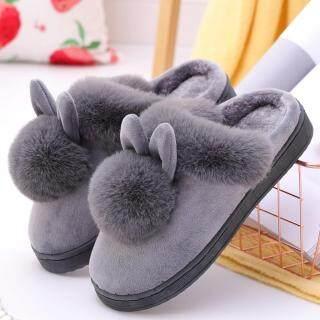 Dép Đi Trong Nhà KIO Dép Đi Trong Nhà Có Tai Thỏ Lông Mùa Đông Cho Nữ Giày Dép Mềm Mại Thoải Mái thumbnail