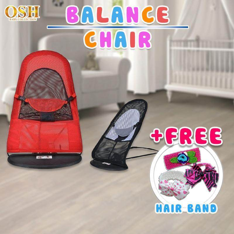 Osh Baby Bouncer Cradle Crib Cot Foldable Baby Bed Balance Chair Rocker