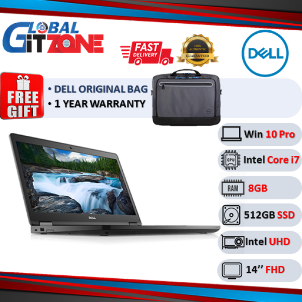 DELL LATIUDE L7480-6085SG-W10PRO-DFO Laptop 14 ( i7-7600U, 8GB, 512GB, INTEL UHD, W10Pro) Commercial notebook Malaysia