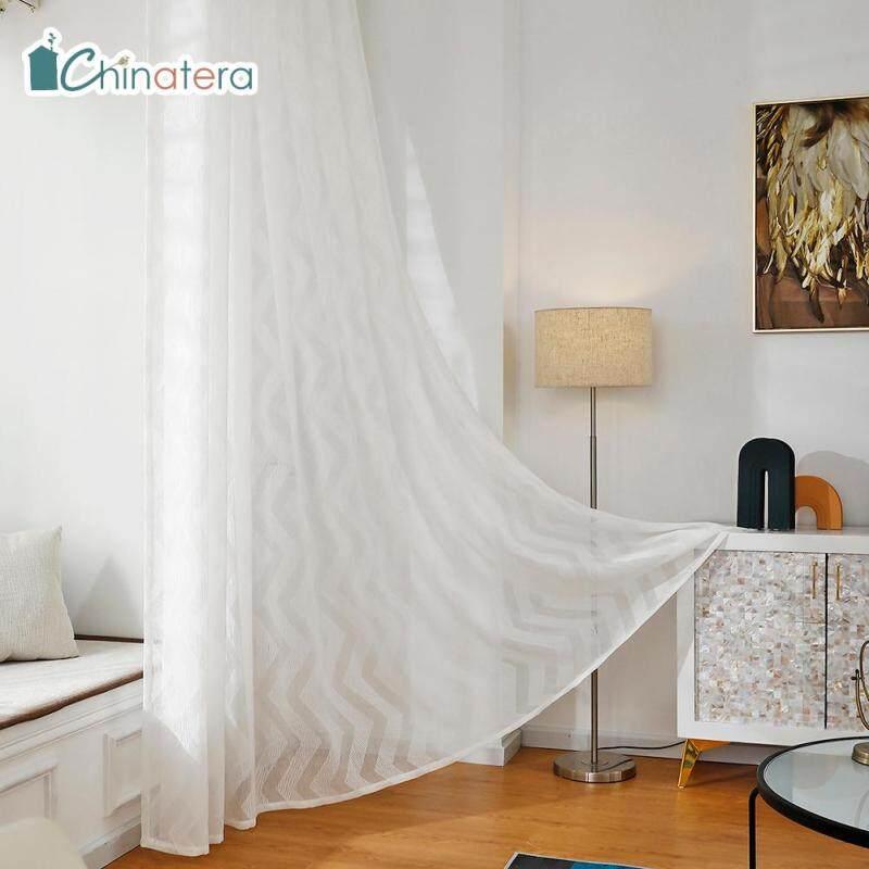 Rèm Vải Tuyn Chinatera In Họa Tiết, 1 Mảnh Rèm Cửa Sổ Sợi Hiện Đại Trang Trí Phòng Khách Phòng Ngủ Nhà Bếp Phong Cách Bắc Âu