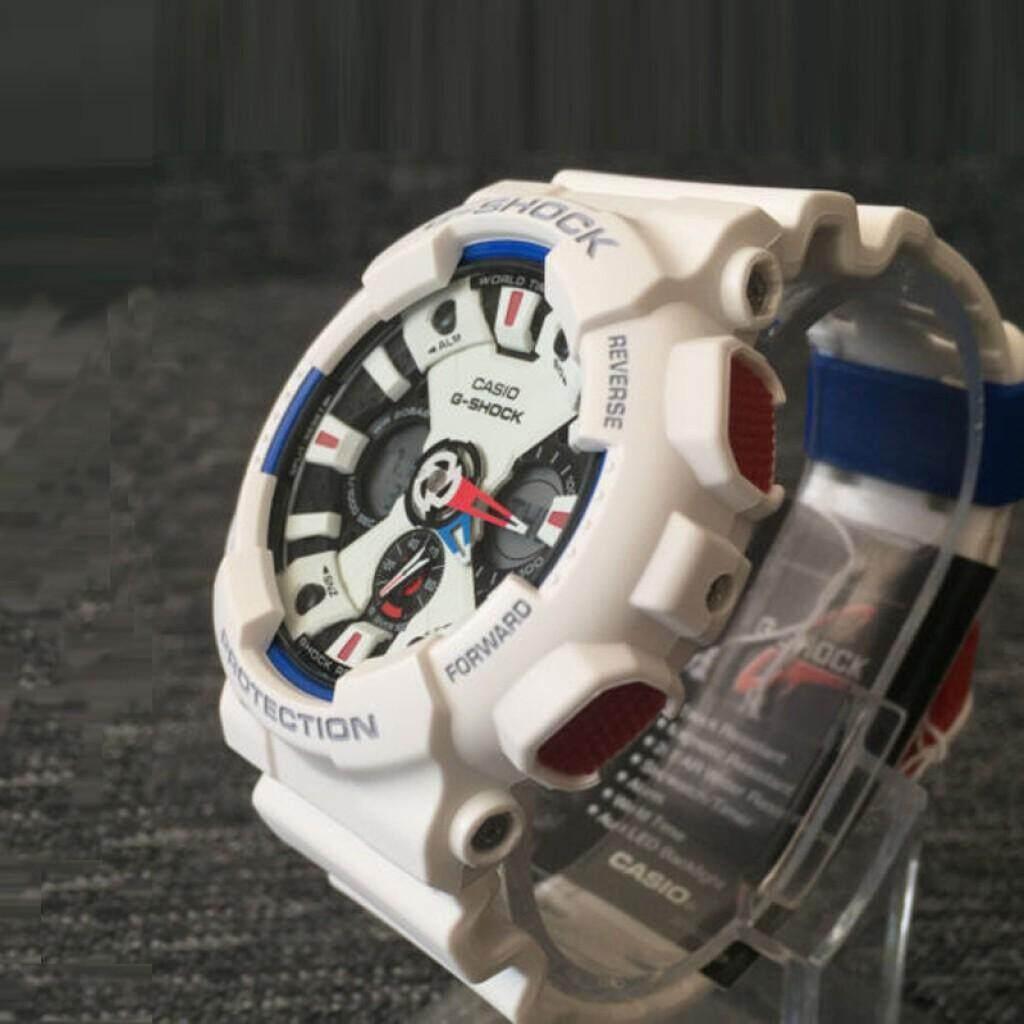 การใช้งาน  นราธิวาส 【 STOCK】Original _ Casio_G-Shock GA120 Duo W/เวลา 200M กันน้ำกันกระแทกและกันน้ำโลกนาฬิกากีฬาไฟแอลอีดีอัตโนมัติ Wist นาฬิกากีฬาสำหรับ MenBlack White GA-120