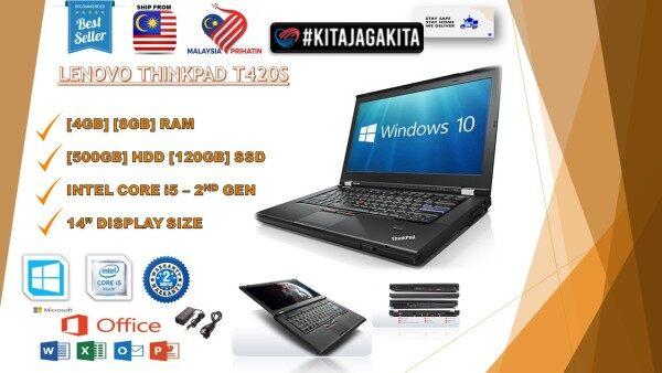 LENOVO THIKPAD T420S INTEL CORE I5-2ND GENERATION/8GB RAM 120GB SSD/2 MONTH WARRANTY [LAPTOP] Malaysia