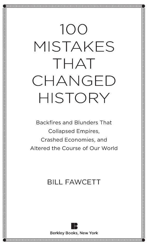 100 Mistakes that Changed History by Bill Fawcett [EBOOK] image on snachetto.com
