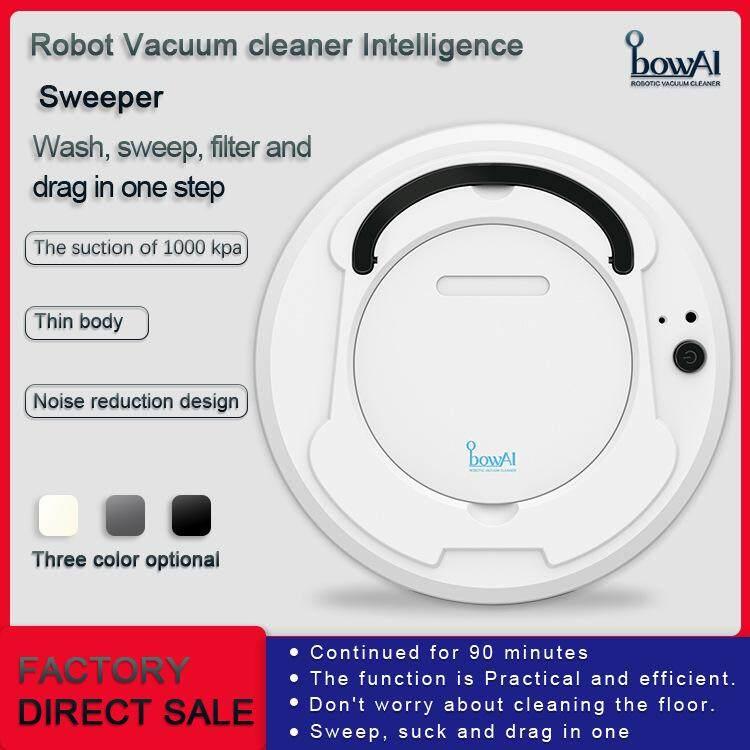 หุ่นยนต์กวาดอัจฉริยะชาร์จเครื่องดูดฝุ่นขี้เกียจเครื่องใช้ในบ้านขนาดเล็กทำความสะอาดกวาด