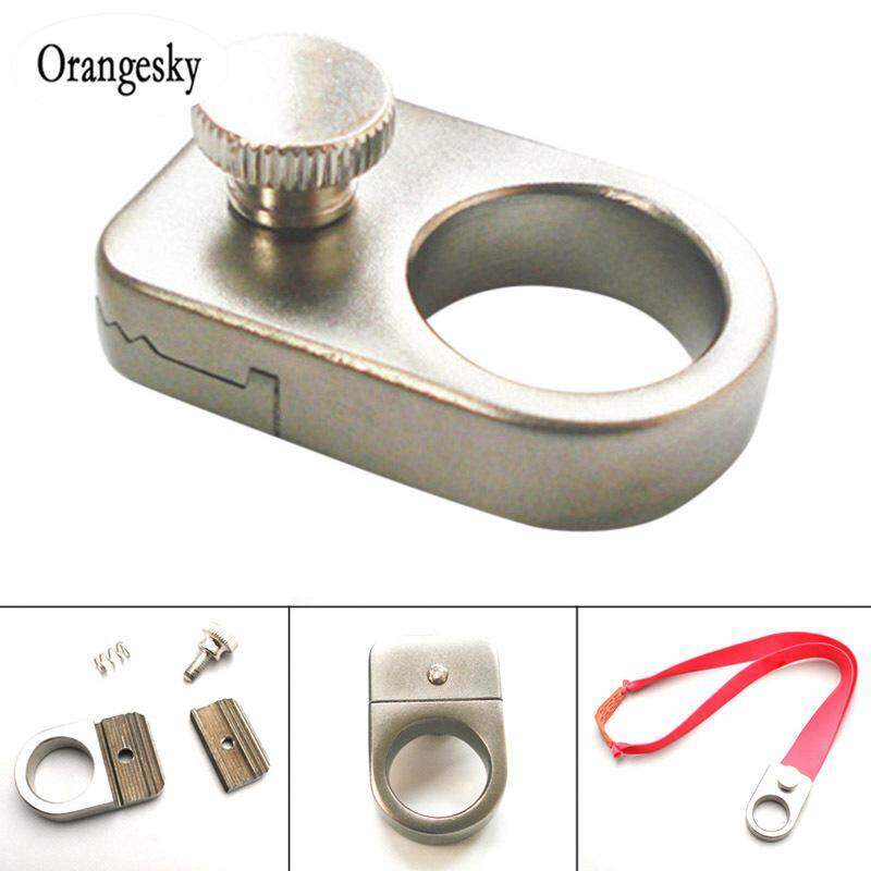 Slingshot Ring Stainless Steel Catapult For Outdoor Shooting Without Rubber Band