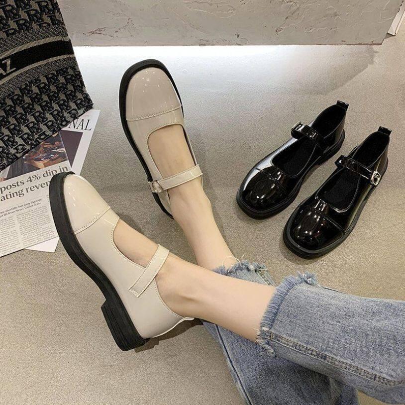 Vintage Mary Janes Giày Cao Gót Nữ Giày Nữ Giày Nữ Giày Đi Học Giày Búp Bê Cho Nữ Giày Đế Bằng Ba Lê Cho Nữ Giảm Giá 090145 giá rẻ