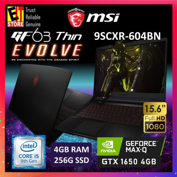 MSI GF63 THIN 9SCXR-604BN GAMING LAPTOP (I5-9300H+HM370/4GB/256GB SSD/15.6 FHD/4GB GTX 1650 MAXQ/W10/2YRS) + BACKPACK Malaysia