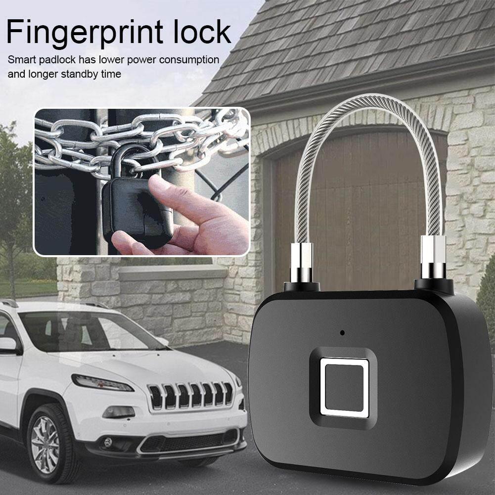 L13 Smart Lock Fingerprint Outdoor Luggage Lock Gym Fingerprint Bag Padlock with Metal IP65 Waterproof Suitable for Gym School Locker Backpack Suitcase Travel Luggage