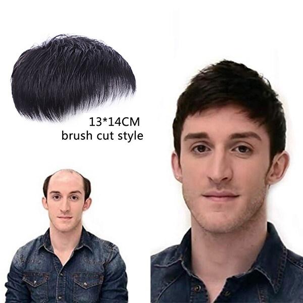 Buy 100% Real Human Hair men  Wigs  Short hair  Increase hair volume hair extensions pads Singapore