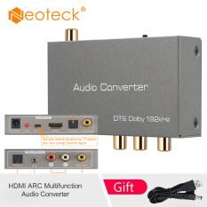 Bộ chuyển đổi tín hiệu âm thanh neoteck Dac, Bộ chuyển đổi tín hiệu âm thanh kỹ thuật số sang analog HDMI ARC, bộ chuyển đổi giắc cắm Coaxial Toslink quang học ra RCA 3.5mm
