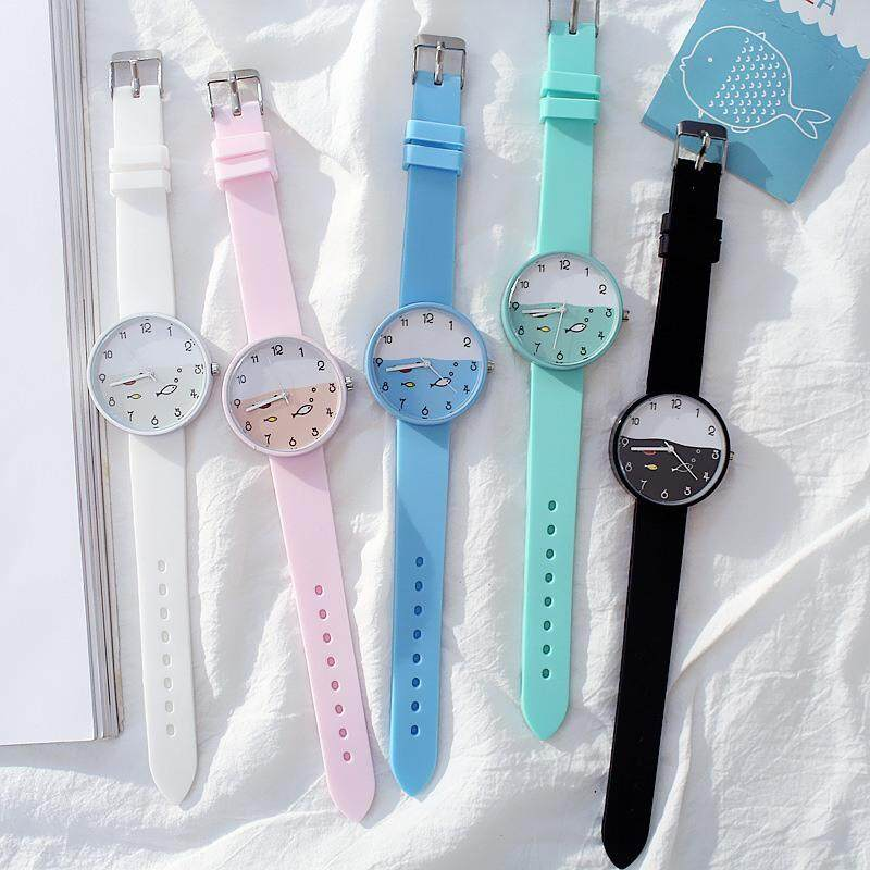 Candy Color Kids Watch Girls Clock Fashion Children Wristwatch Cartoon Kids Quartz Watch Malaysia