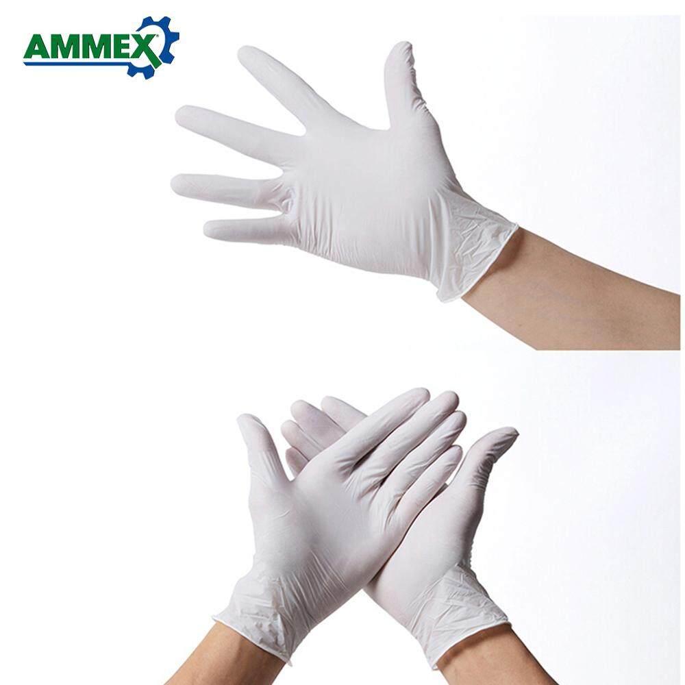Ammex 100 Chiếc Dùng Một Lần Cao Su Nitrile Bao Tay Bột Không Dầu Chịu Thoải Mái Găng Tay Cho Ngành Công Nghiệp Nhà Thực Phẩm Y Tế Nha Khoa sử Dụng