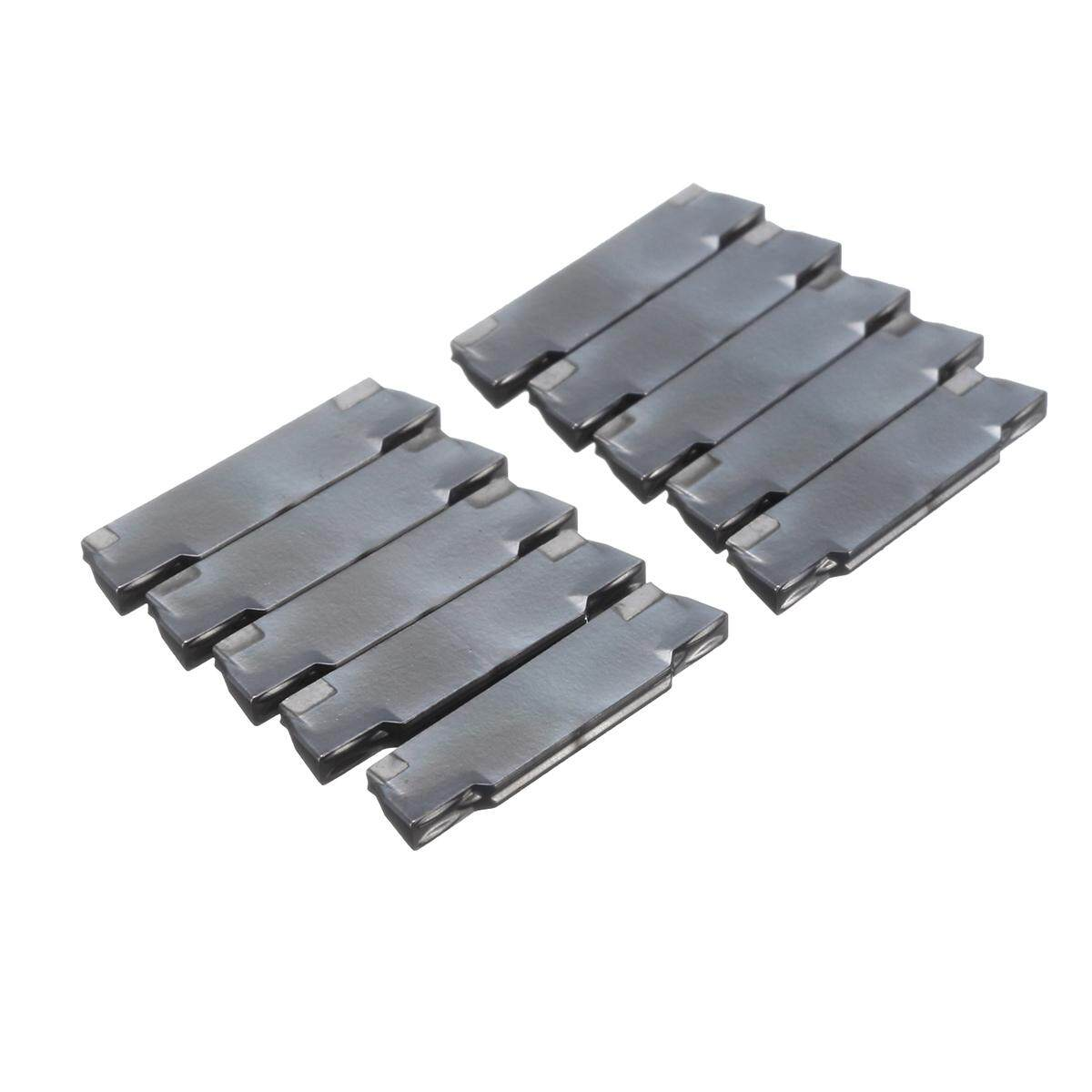Drillpro New 10Pcs MGMN150-G 2mm CNC Lathe Grooving Carbide Blades Insert Cutting Tool