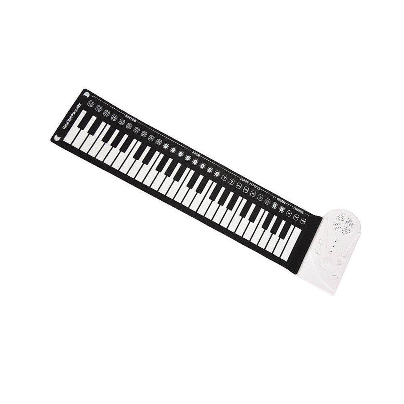 Bán Chạy nhất 49 Phím Có Sừng Đàn Piano Gấp Bàn Phím Trẻ Em Mới Bắt Đầu Học Piano Thực Hành