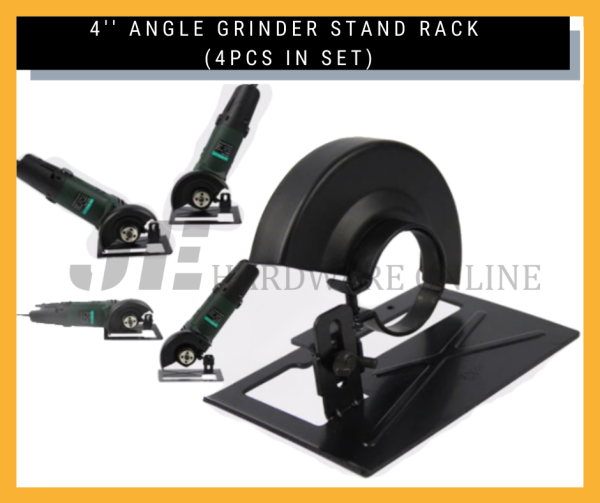 4 inch Angle Grinder Protective Cover Safety Cover + Grinder Base / 4 ANGLE GRINDER STAND RACK (4PCS IN SET)