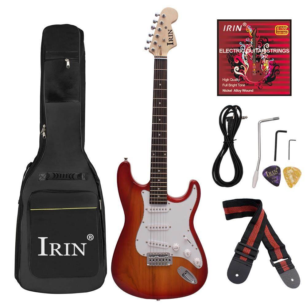 Đàn Guitar Điện Bộ 38 inch IRIN Mới Bắt Đầu Đàn Guitar Điện dành cho Người Đàn Ông Người Phụ Nữ Cho Trẻ em, Quà Tặng với đàn Guitar Plus Cotton Túi, dây, dây mái chèo, 3 m, đính đá, điều chỉnh cờ lê