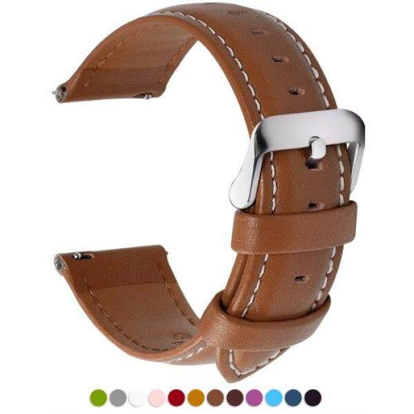 Watch Band Belt, Fullmosa All 12 Colors Smart Watch Band Belt Watch Band Replacement Belt Genuine Leather 24mm Brown Malaysia