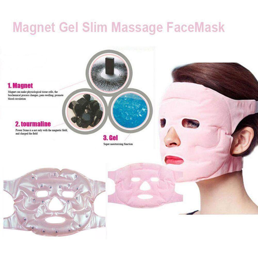 Beauty Face-Lift Mask Tourmaline Magnetic Therapy Massage Anti-Wrinkle Mask By Sykesshop.
