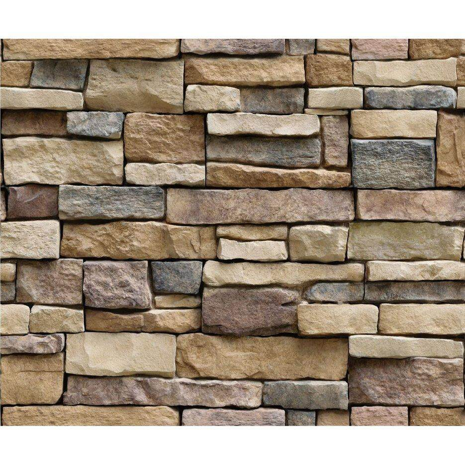 Hot Sellers 3d Stone Brick Wallpaper Pvc Wall Sticker Bedroom Living Room Background Decal