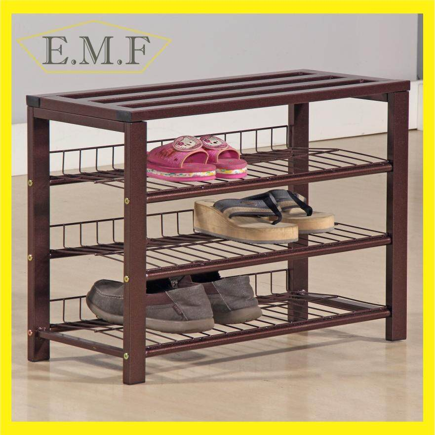 Metal Shoe Rack 3 tiers Shoe Organiser Shoe Storage Shelf