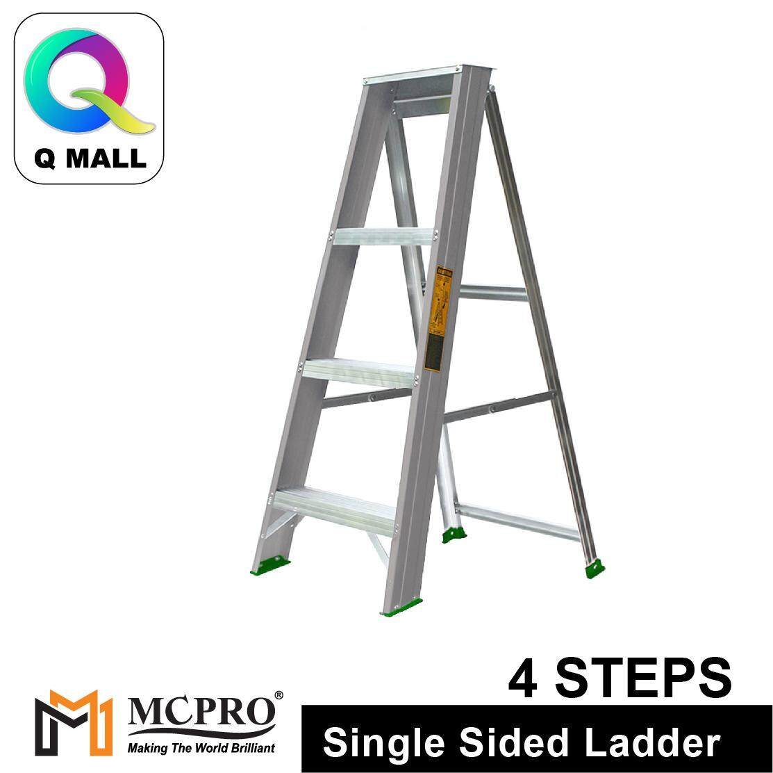 MCPRO Aluminium Single Sided Ladder 4 Steps 43 [ Max Reachable Height 235.2cm ]