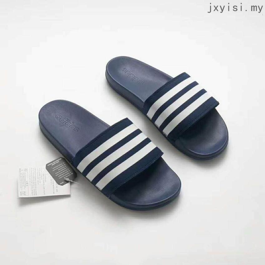 100%authentic SLK Bathroom Blue white stripes flip flops Adidas_slippers ADILETTE CF+ MONO Selling Fashion Shoes