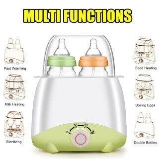 Máy Hâm Sữa Mẹ 150W, Bình Đun Nóng Thực Phẩm Hai Chai Hơi Nước Chăm Sóc Em Bé -Màu Hồng thumbnail