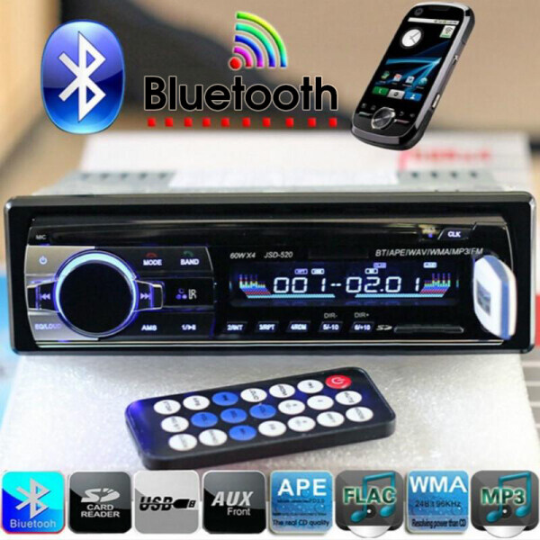 Loa Siêu Trầm Stereo Radio Của Xe 12V Bluetooth Đầu Phát Âm Thanh MP3, Tích Hợp Cổng USB/SD/AUX/FM/TF Thiết Bị Điện Tử Xe Hơi