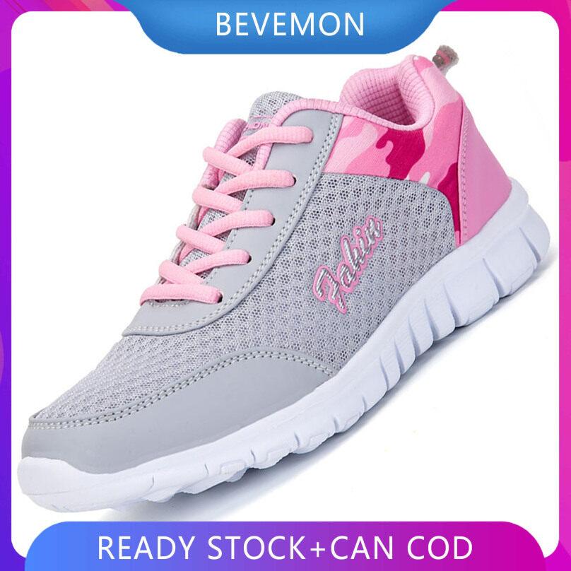 Giày Chạy Bộ BEVEMON Cho Nữ, Giày Thể Thao Buộc Dây Nhẹ Chống Trượt giá rẻ