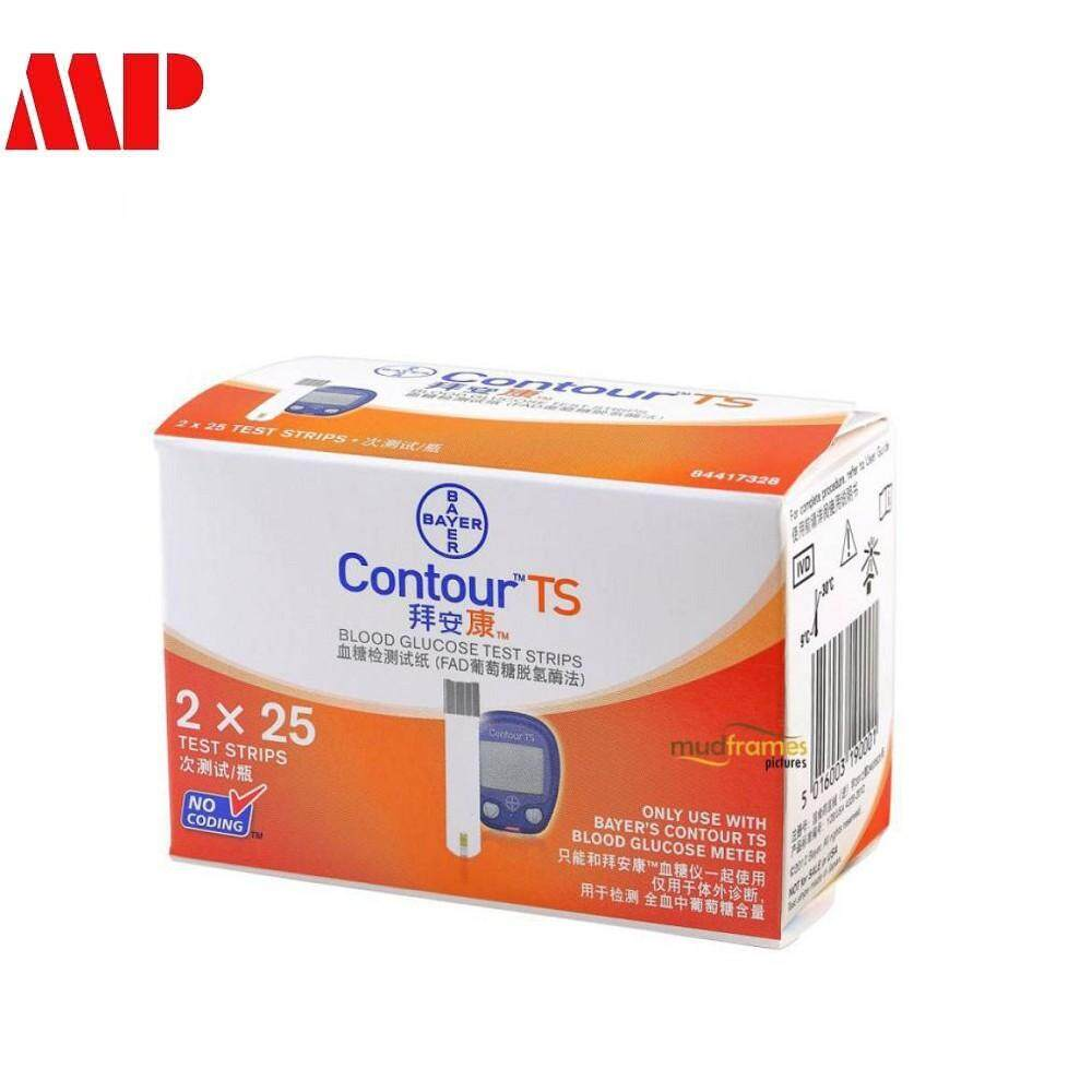 Bayer Contour Ts Blood Glucose Test Strips (25s X 2) By Mpeshop.