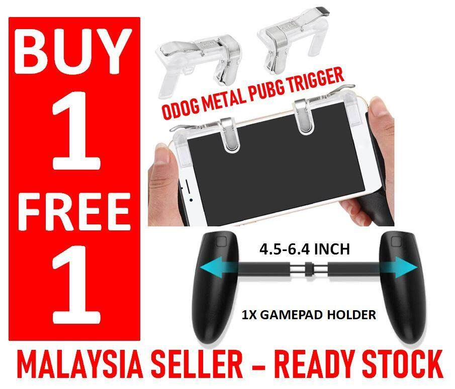 Buy 1 Free 1 - Odog Metal Trigger Pubg Rules Of Survival Firing & Aiming Gamepad Joystick Controller Mobile Smartphone For Pubg Fps Stg Tps Games Last Battle Ground, Survivor Royale [no More Undetect Miss Fire And Sensitive Issue] New 2018! Ready Stock By Gadgetkecik.