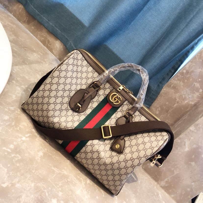 6dd19a7ef Men's travel bag fashion handbag printing pvc with leather 1 X GUCCIS bag