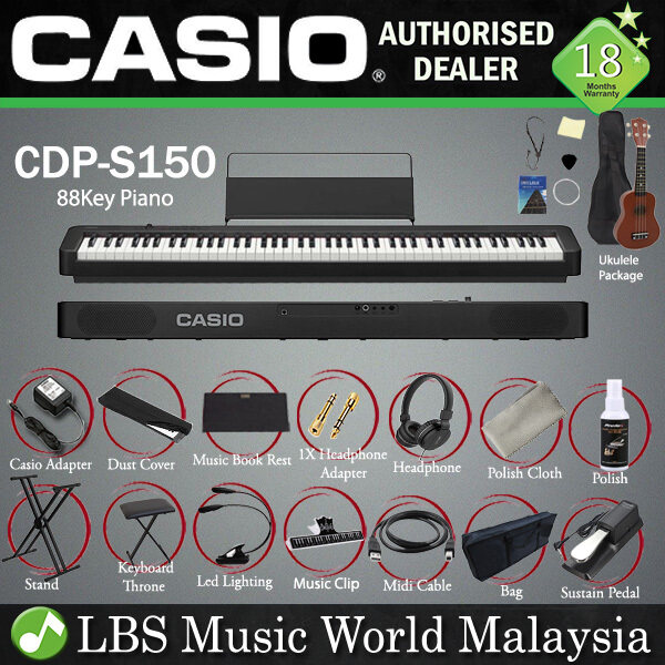 Casio CDP-S150 88 Keys Digital Piano Keyboard Portable Package Electric Normal Sustain Pedal (CDPS150) Malaysia