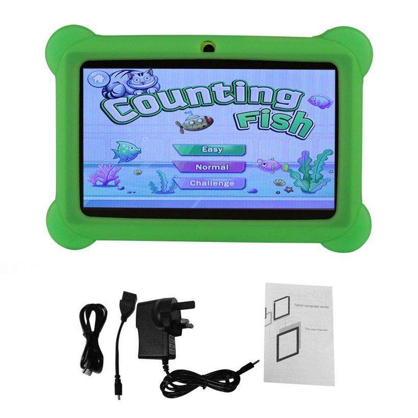 WOND 7 inch Children Kids Tablet Dual Camera Tablet With Cover for Android 4.4 UK Plug
