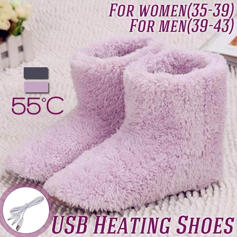 【free Shipping + Flash Deal 】winter Usb Warmer Foot Shoes Plush Warm Electric Slipper Feet Heat Washable By Audew.