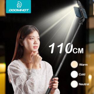 DoomHot Ảnh Tự Sướng Thanh Gậy Chụp Ảnh Tự Sướng Đèn LED Xách Tay Căng Ra Chủ, Máy Tính Để Bàn Đứng Ảnh Tự Sướng Thanh Bộ Ổn Định Chống Rung Điều Chỉnh Giá Đỡ Xoay 360 Thanh Tạo Tác Tự Hẹn Giờ thumbnail