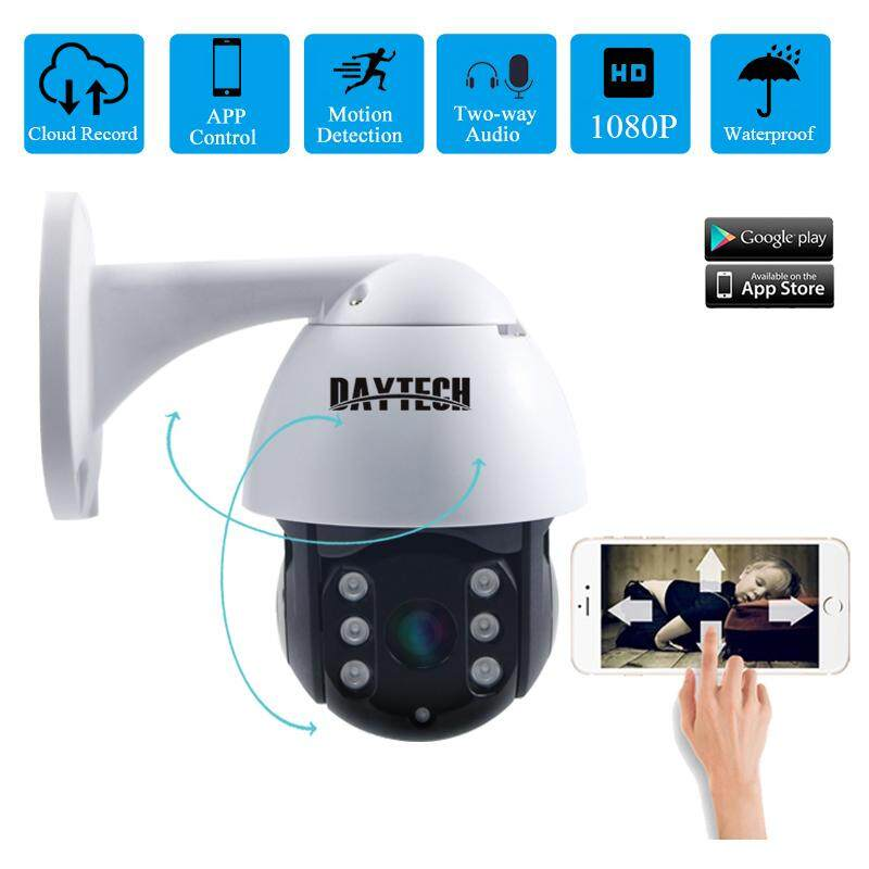 Daytech Outdoor Kamera Ip 1080P 2MP HD Wifi Tahan Air CCTV ONVIF Audio Dua Arah Modus Malam Manusia Deteksi Gerakan Aplikasi Contorl (DT-H09)