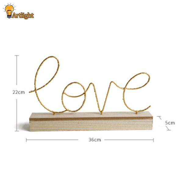 Bảng giá Bắc Âu Dây Đèn Ngủ, Đèn Chữ Love/Home Shape Trang Trí Để Bàn Cho Phòng Khách