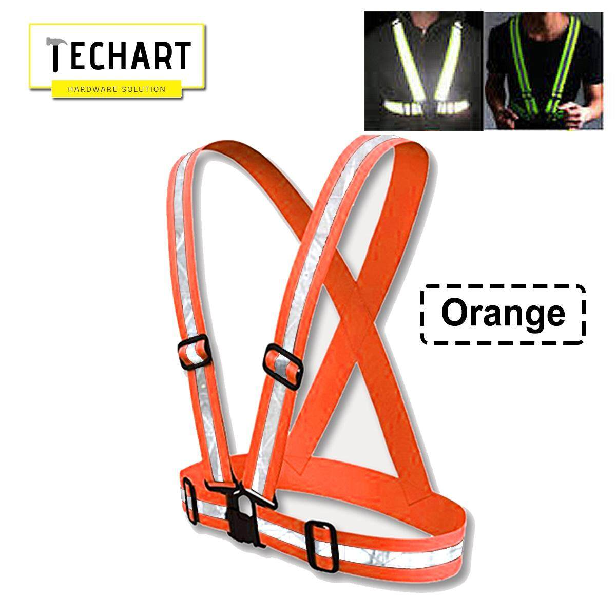Safety Belt High Visibility Reflective Vest Waistcoat With Clip Orange / Green /  Orange with Yellow