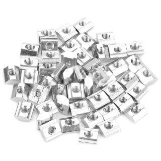 50 Cái Thép Carbon Trượt T-slot Nut Cho 20 Series Nhôm Hồ Sơ T-slot Nut Phụ Kiện M4 10 5 thumbnail