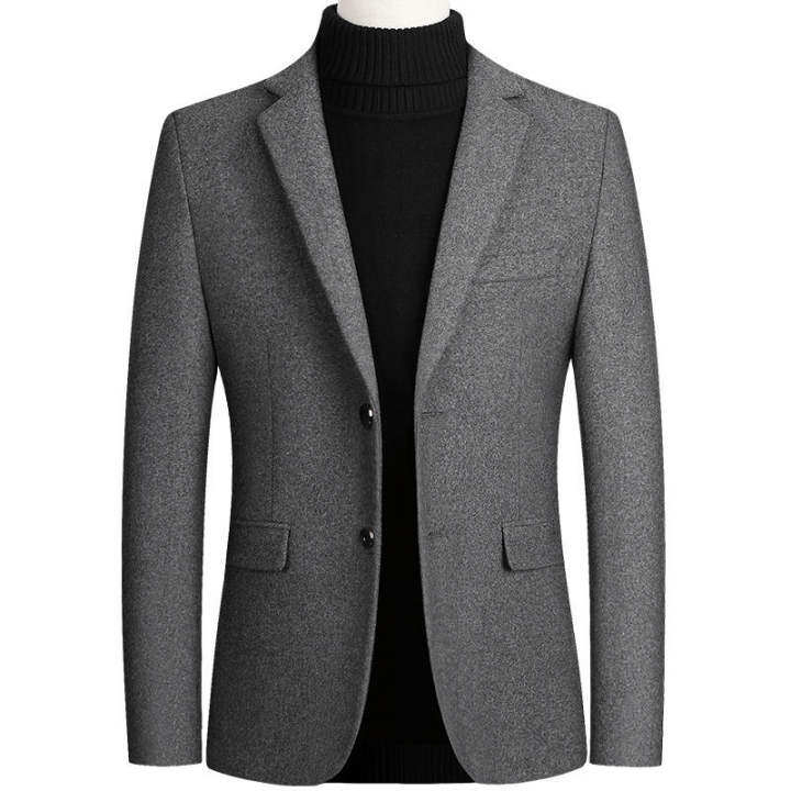Mens Coats and Jackets High Quality Men's Wool Suit Coat Wool Blends Suit  Top Male Jacket Classic Solid Color Business Casual 4XL   Lazada
