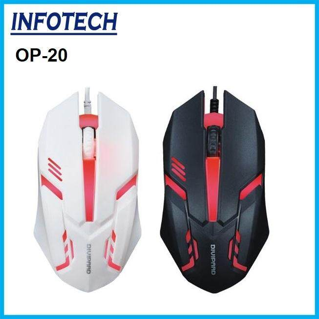 Gsystem OP-20 Backlight Colorful Glowing Gaming Mouse USB Wired Divipard Malaysia