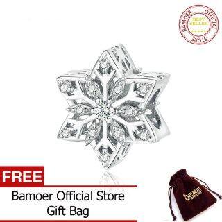 BAMOER Hạt Kim Loại Bông Tuyết Sáng Bóng Cho Nữ, Đồ Trang Sức Làm Vòng Tay Bạc Tự Làm Phù Hợp Với Charm Bạc 925 BSC368 thumbnail