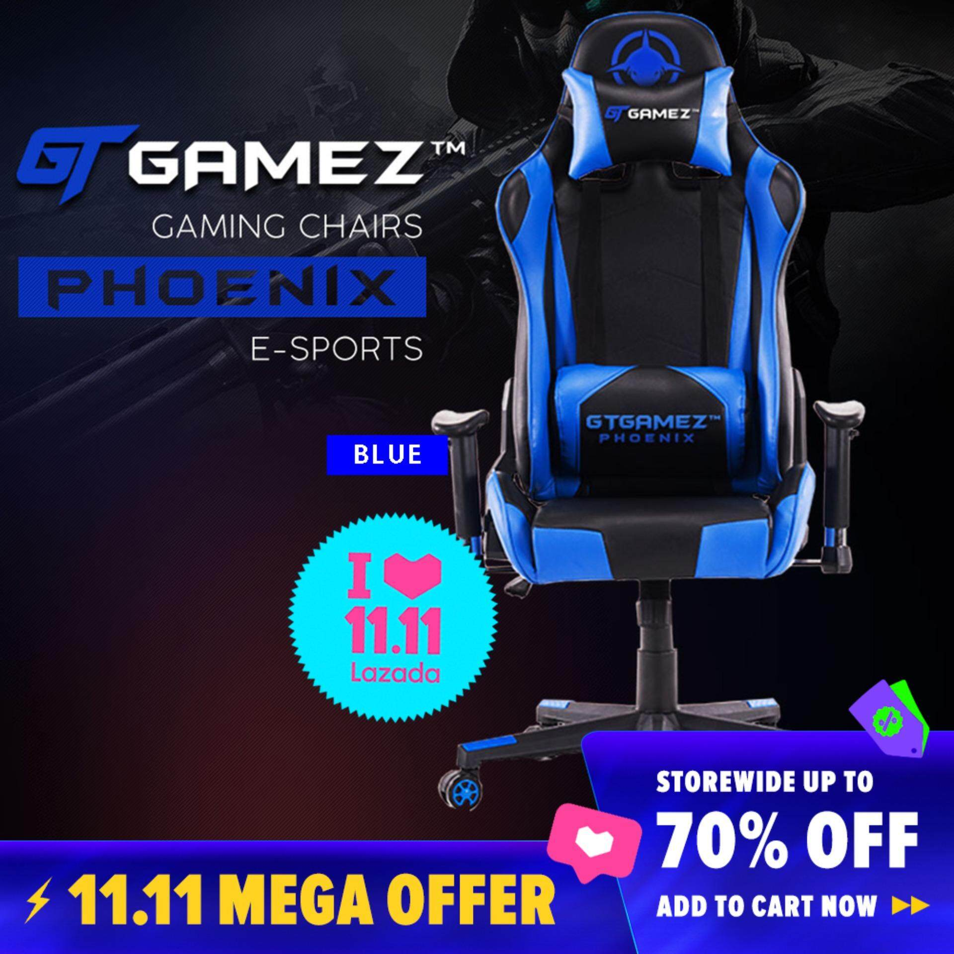 Enjoyable Gtgamez Gaming Chair Gmz Gc Yg 725 Racing Video Game Chair With Ergonomic Backrest And Seat Height Adjustment And Pillows Recliner Swivel Rocker Spiritservingveterans Wood Chair Design Ideas Spiritservingveteransorg