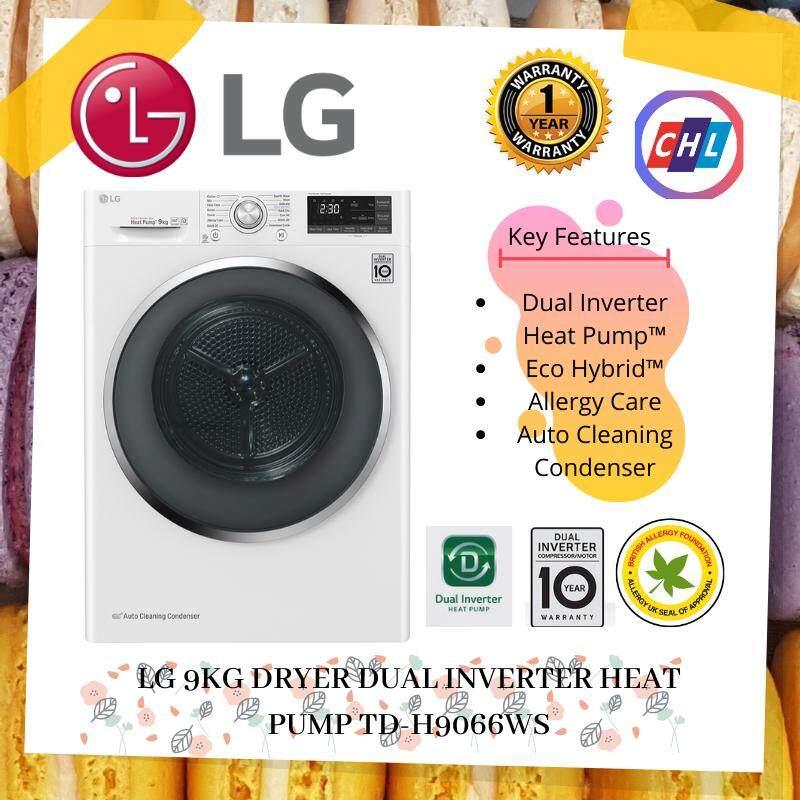 LG 9KG DRYER DUAL INVERTER HEAT PUMP TD-H9066WS