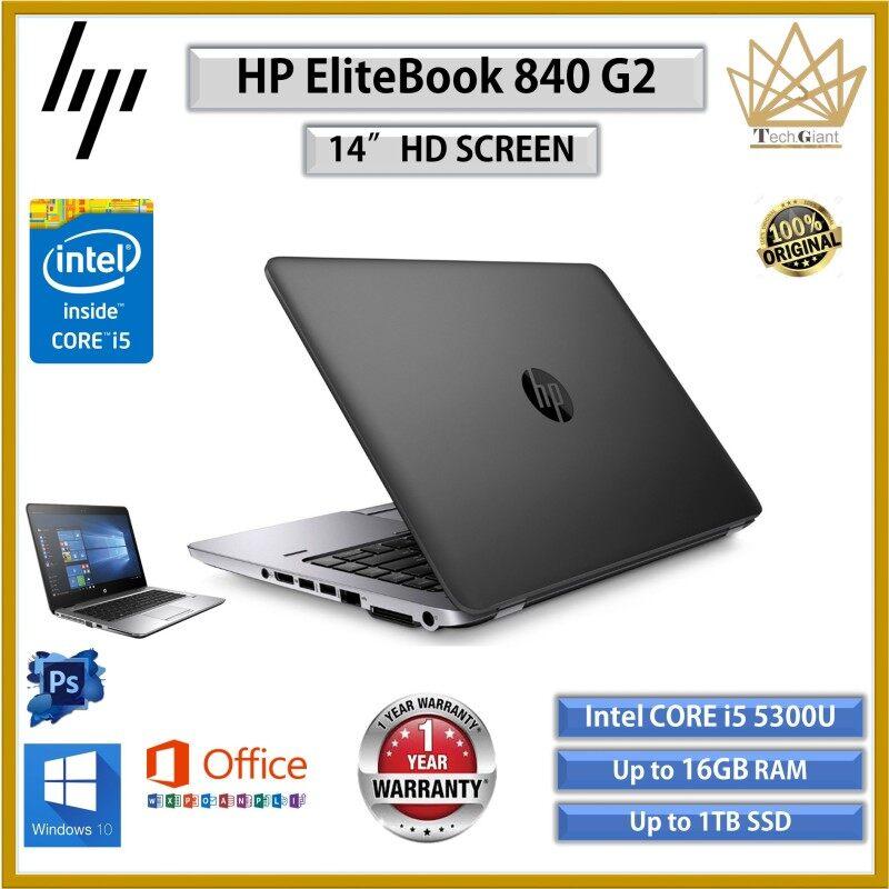 BUSINESS SERIES HP ELITEBOOK 840 G2 CORE i5 (5TH GEN ) 14 HD / Up to 16GB RAM / 1TB SSD / 14 HD SCREEN / REFURBISHED LAPTOP / #KOMPUTER Malaysia