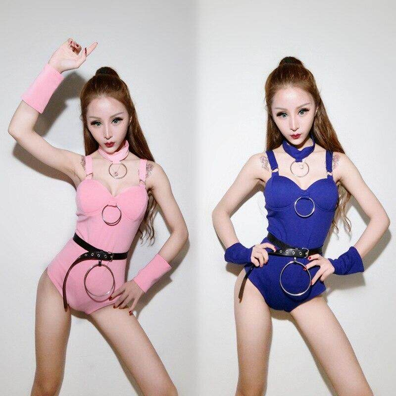Ds costume new female group bar dj night adult sexy jazz dance costume female singer suit sling on