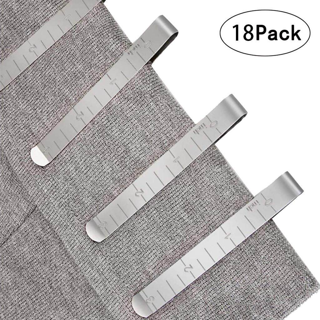 Wo Bang Sewing Clips Stainless Steel Hemming Clips Measurement Ruler Quilting Supplies